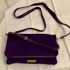 Ralph Lauren Purple Suede bag crossbody clutch